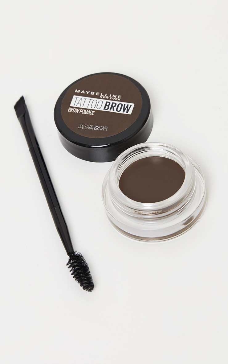 Maybelline Tattoo Brow Pomade Pot Dark Brown 1