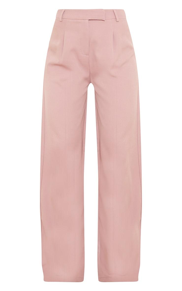 Mauve Woven Tailored Wide Leg Pants 5