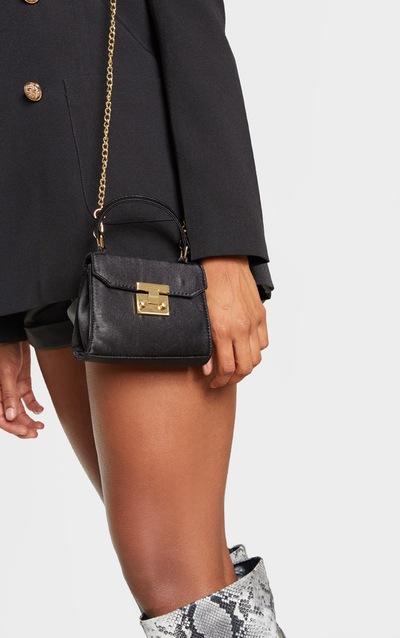 Black Satin Square Mini Bag