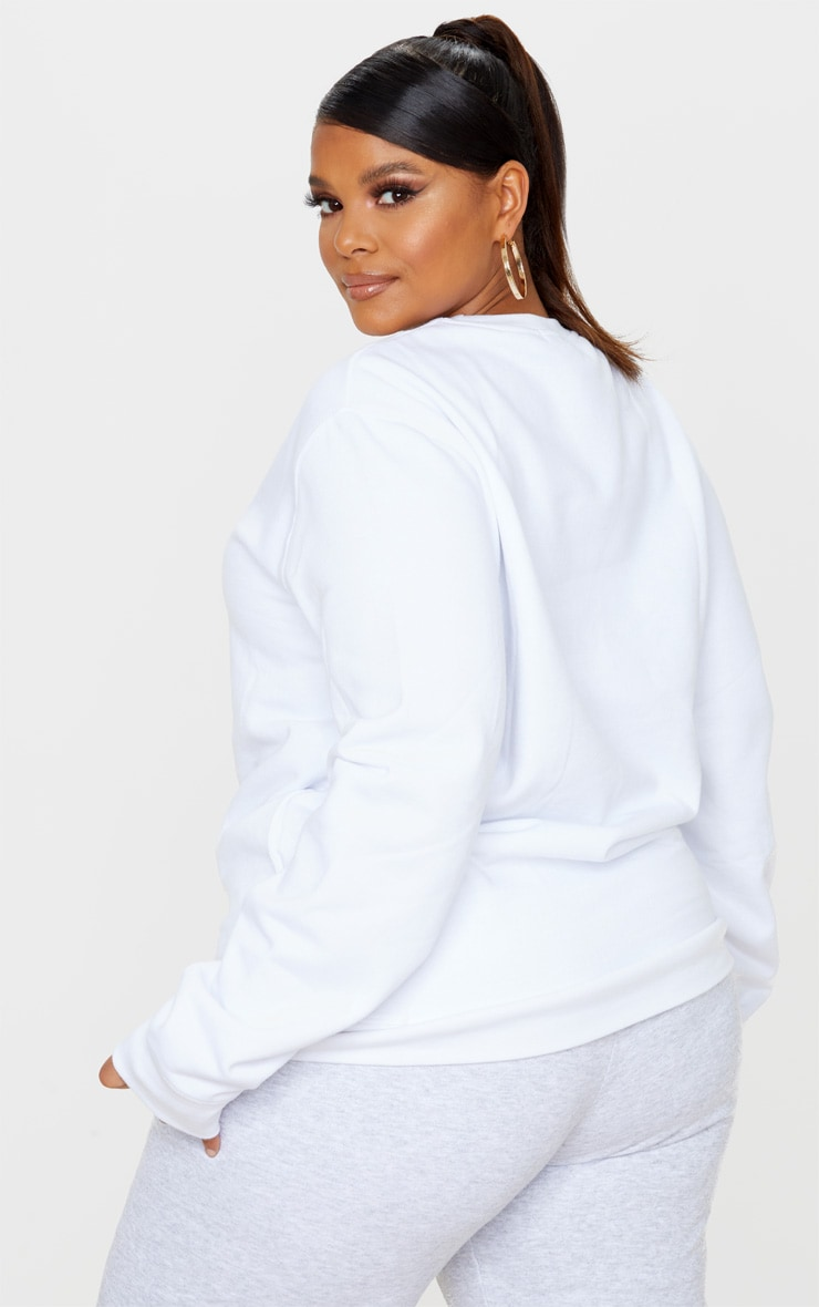 Plus White Ultimate Oversized Sweater 2