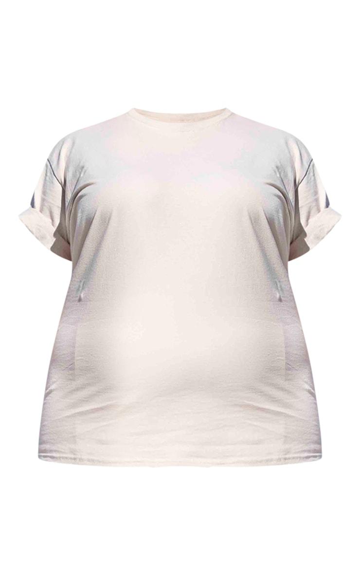 PRETTYLITTLETHING Plus Stone Slogan Back T-Shirt 6