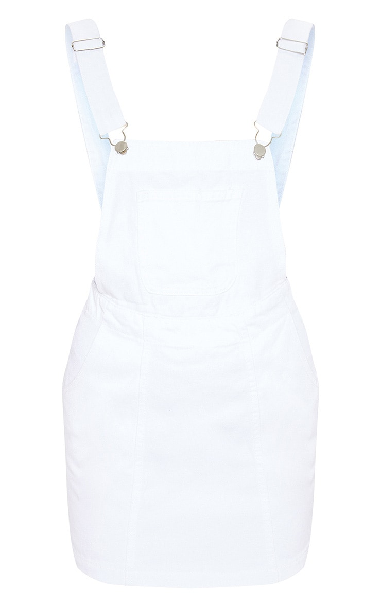 Martine White Denim Pinafore Dress 3