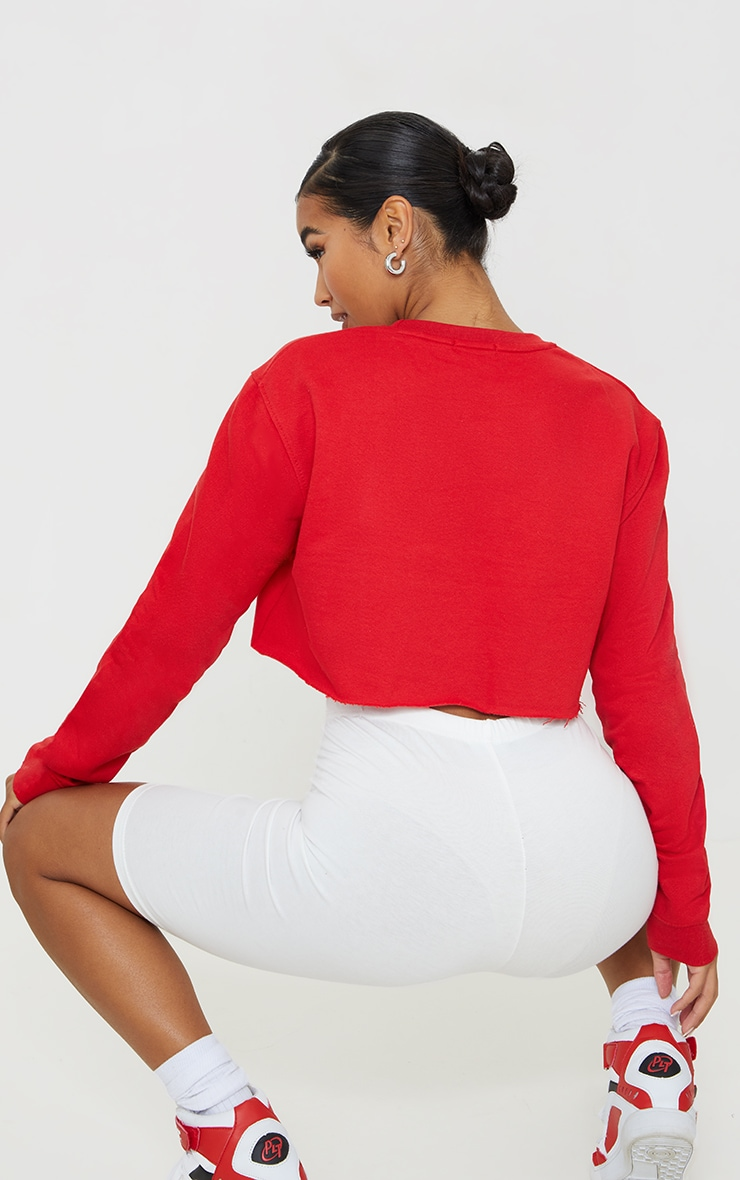 Red Ultimate Cropped Sweater 2