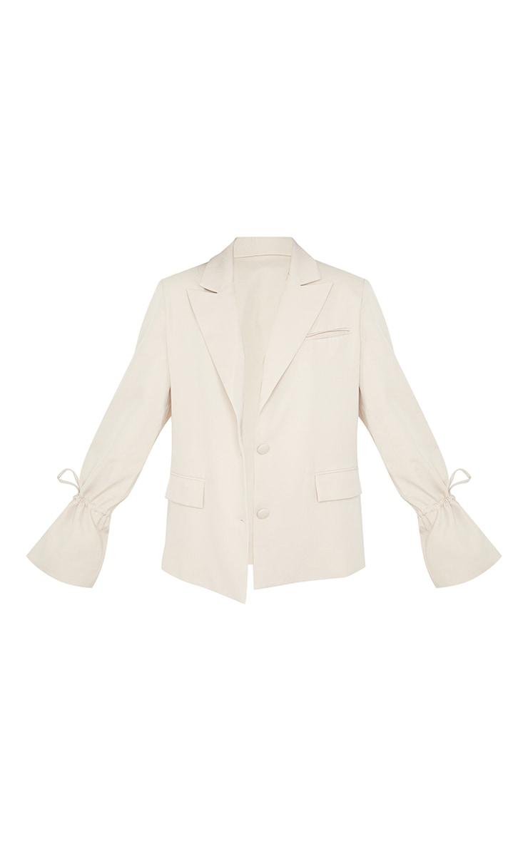 Petite Stone Oversized Tie Cuff Suit Blazer 5