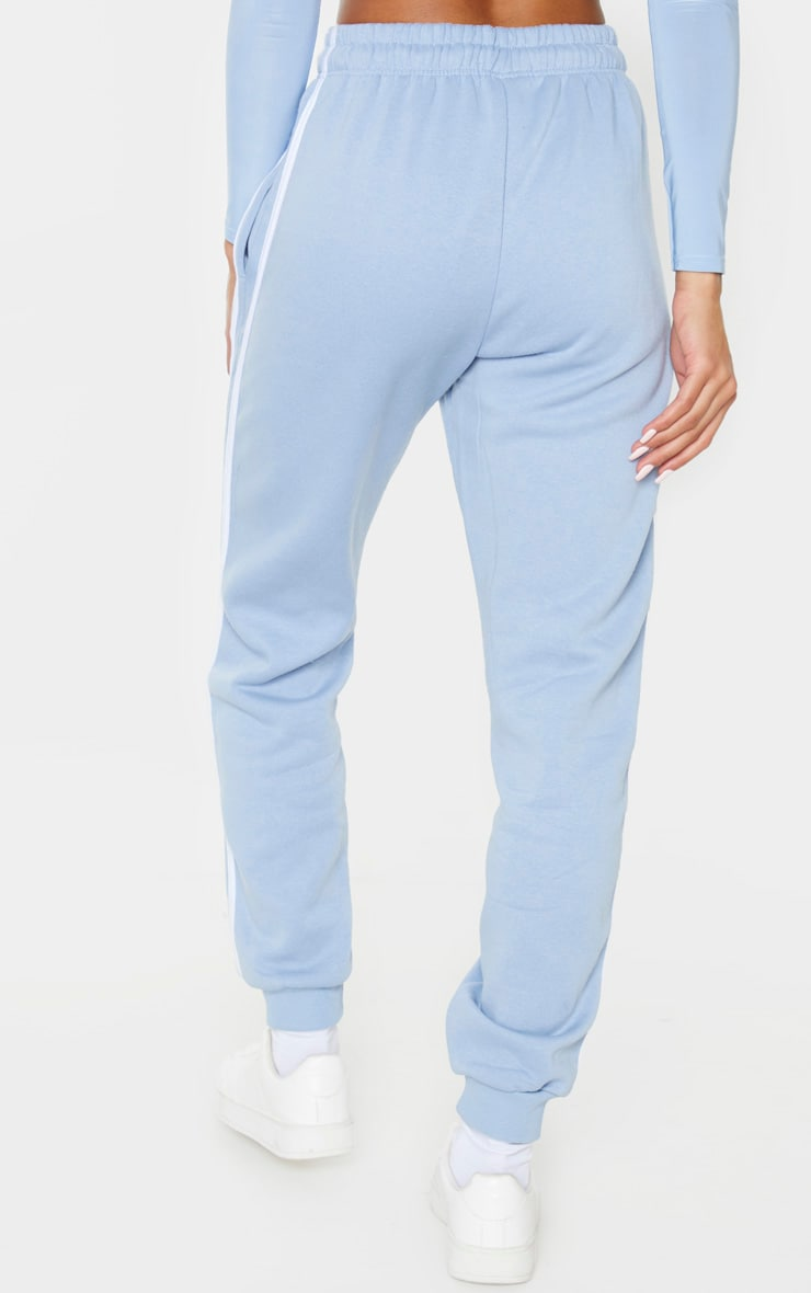 Blue Double Side Stripe Track Pants 4
