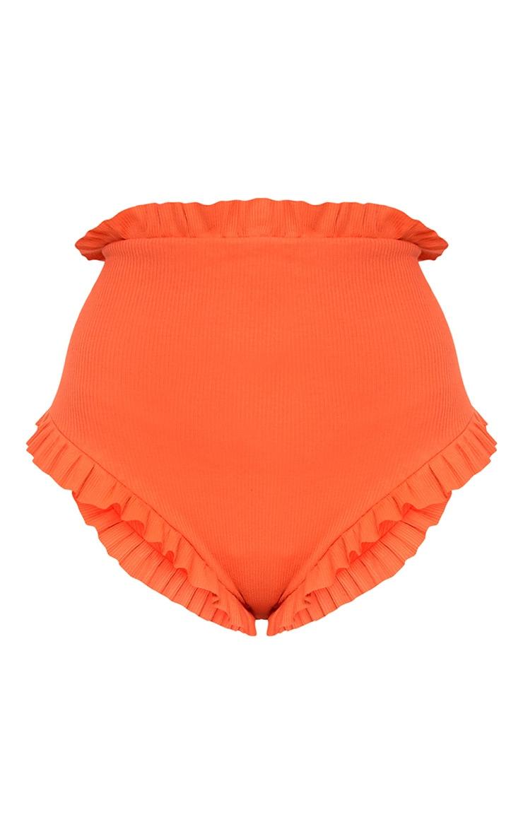 Nanda mini short orange orné de volants  3