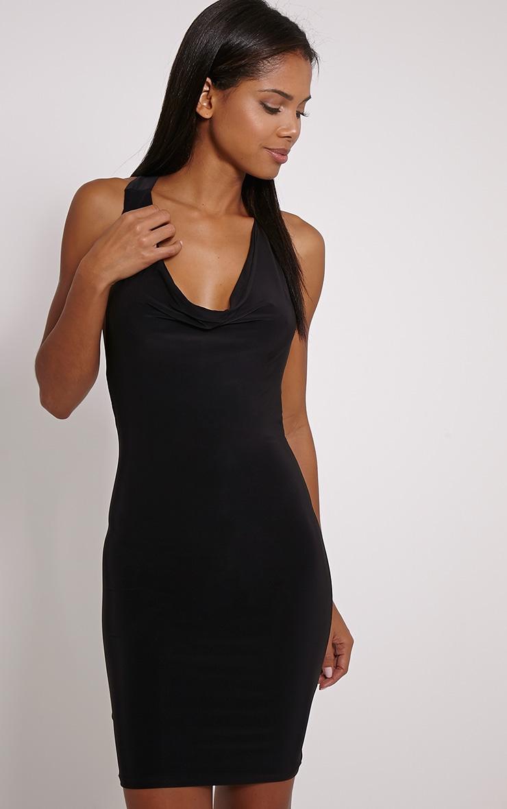 Sammia Black Racer Back Mini Dress 4