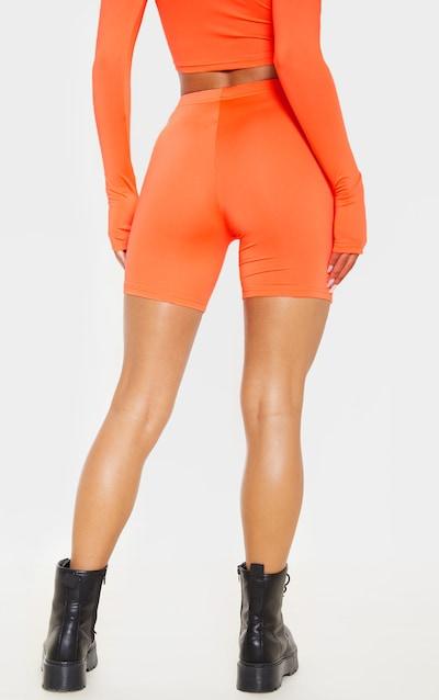 Neon Orange Cycle Short