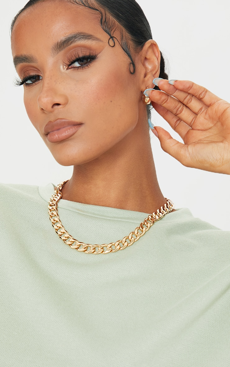 Gold Thick Chunky Chain Necklace