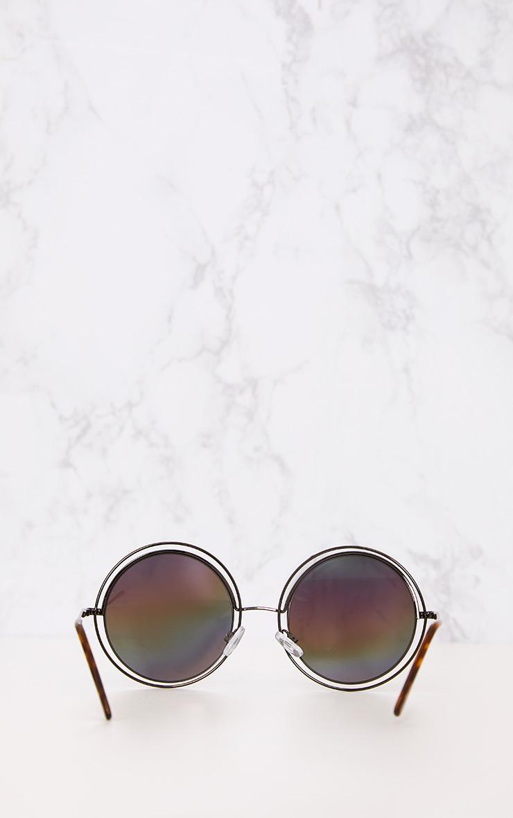 Rainbow Lens Doubled Frame Round Sunglasses 5