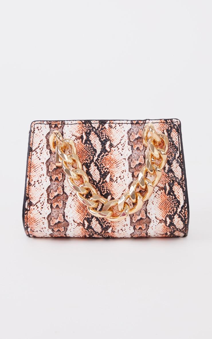 Orange Snake Chunky Chain Mini Grab Bag 3