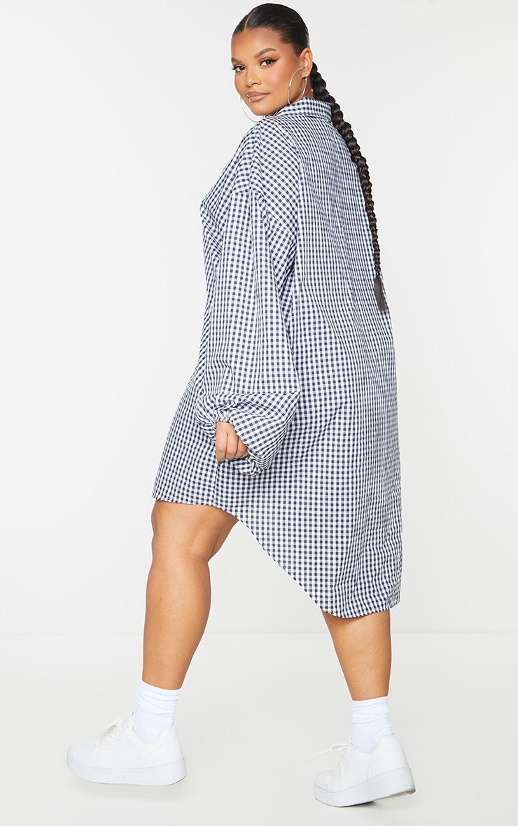 Plus Monochrome Balloon Sleeve Shirt Dress 2