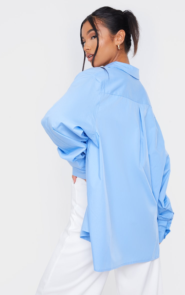 Cornflower Blue Oversized Cuff Shirt 2