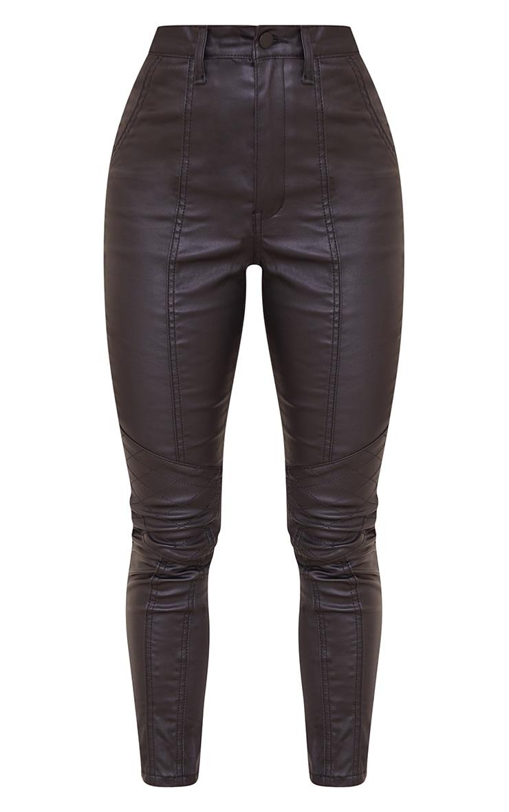 Petite Black Biker Coated Skinny Jeans 5
