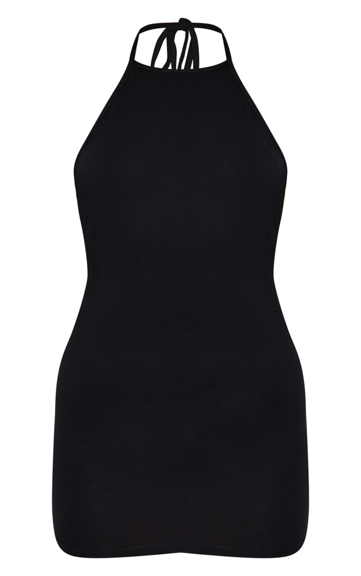 Basic Black Halterneck Bodycon Dress 5