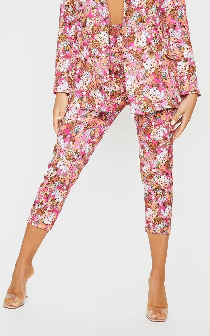 Pink Ditsy Floral Cigarette Pants 2