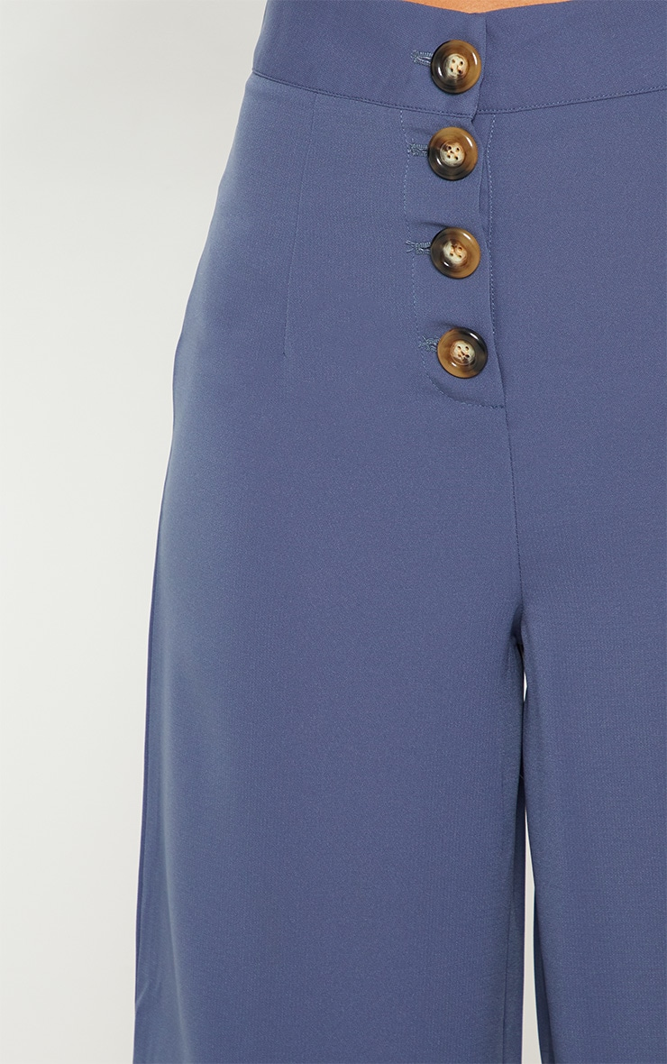 Blue Button Detail Culottes 6