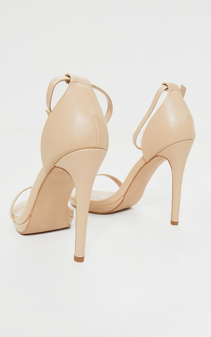 Enna Nude Single Strap Heeled Sandals 4