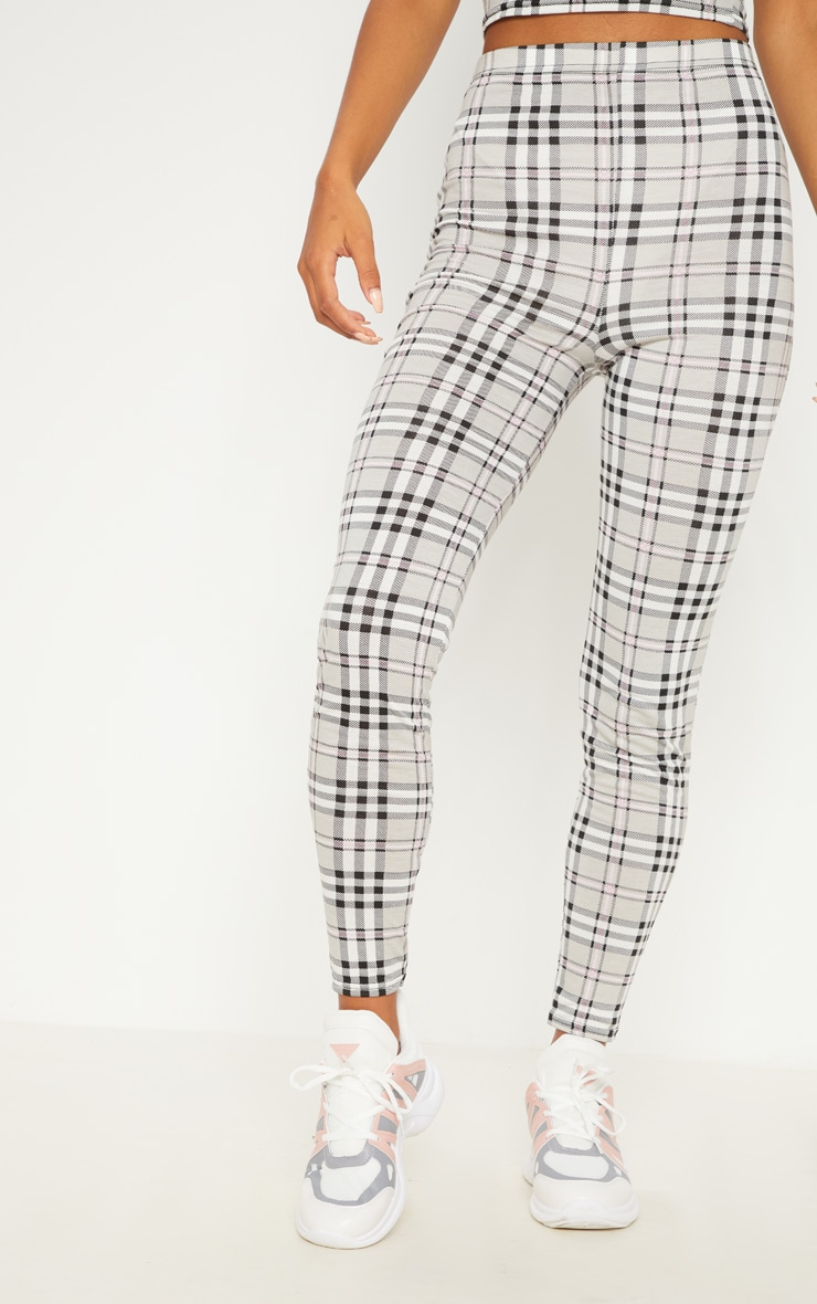 Grey Check Legging 2