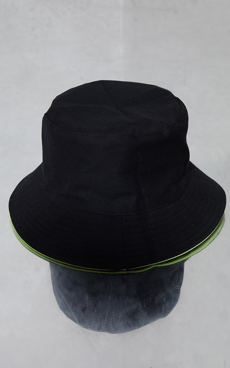 PRETTLITTLETHING Side Tab Lime Bucket Hat 2