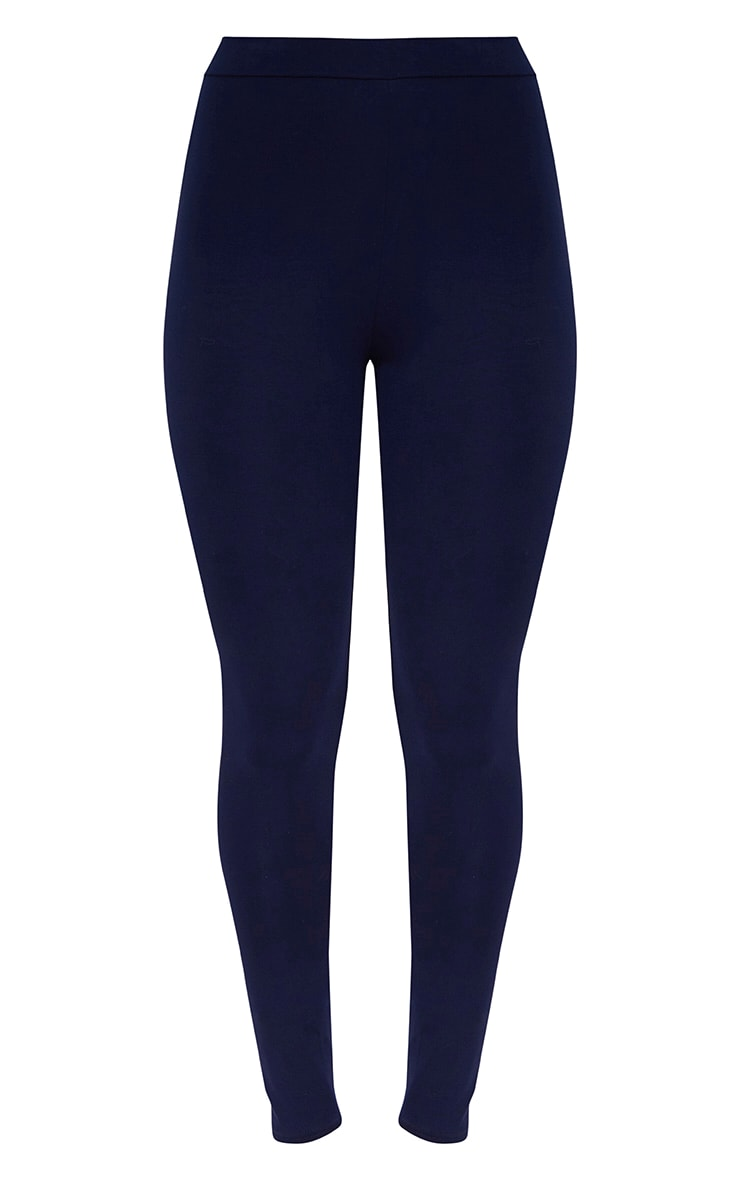 Navy Ultimate High Waisted Jersey Leggings  3