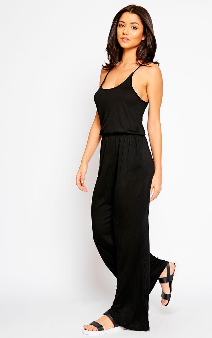 Esme Black Jersey Wide Leg Jumpsuit 3