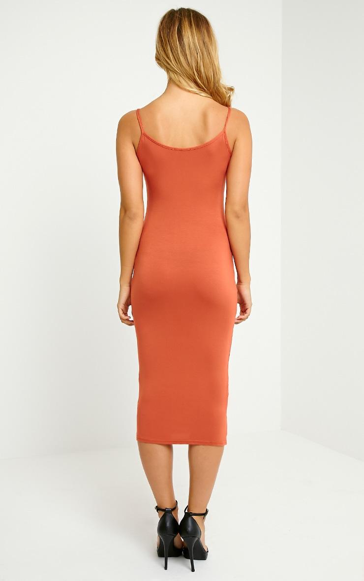 Basic Rust Midi Vest Dress 2
