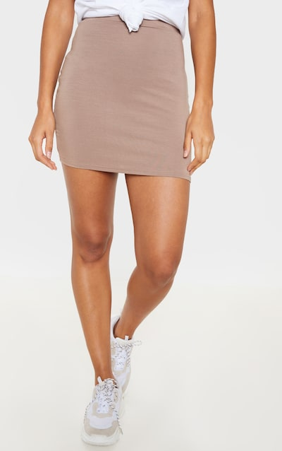 Taupe Ultimate Jersey Mini Skirt