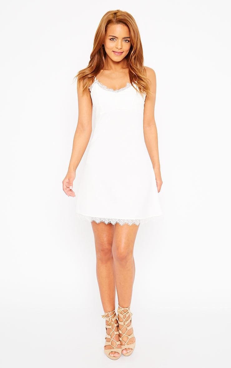 Ida White Lace Detail Bodycon Dress 4