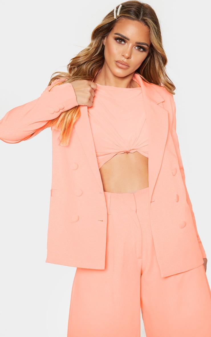 Petite Peach Oversized Blazer 1