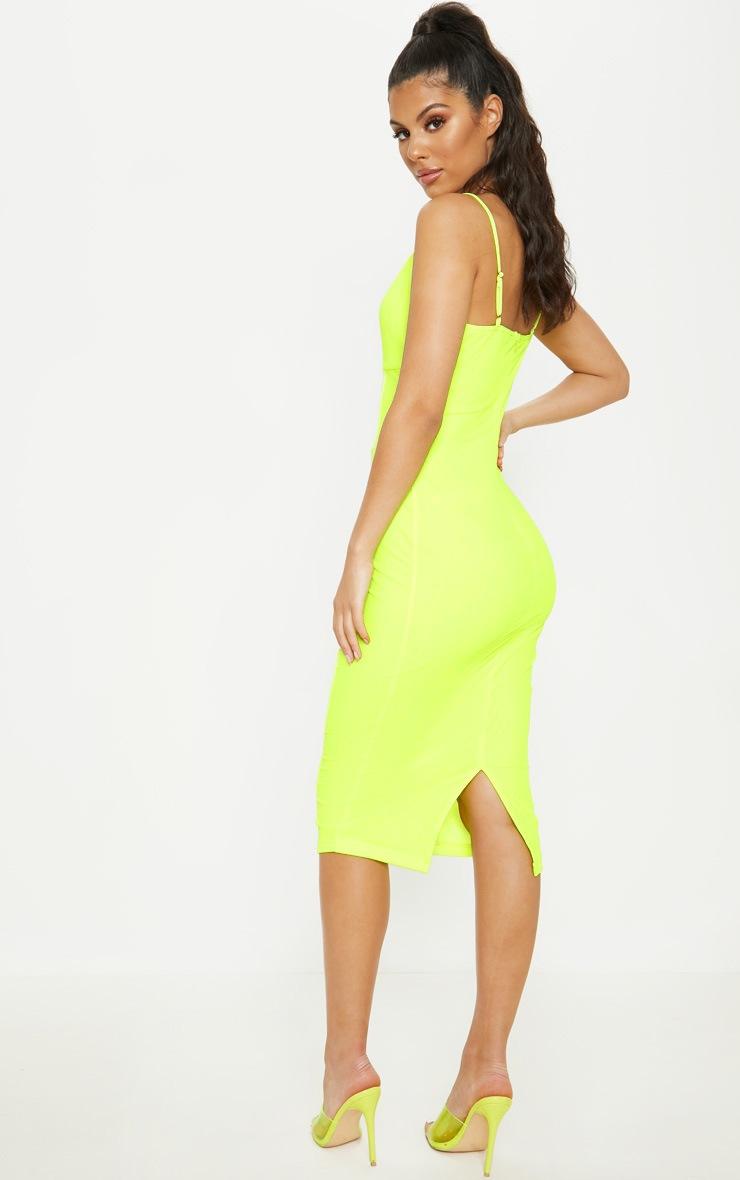 Neon LimeBinding Midi Dress 2