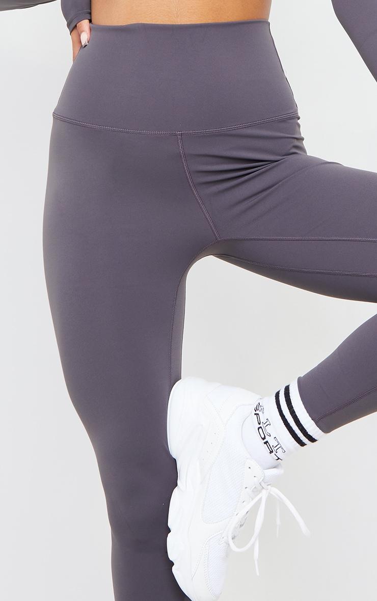 Dark Grey Sculpt Luxe Super High Waist Gym Leggings 4