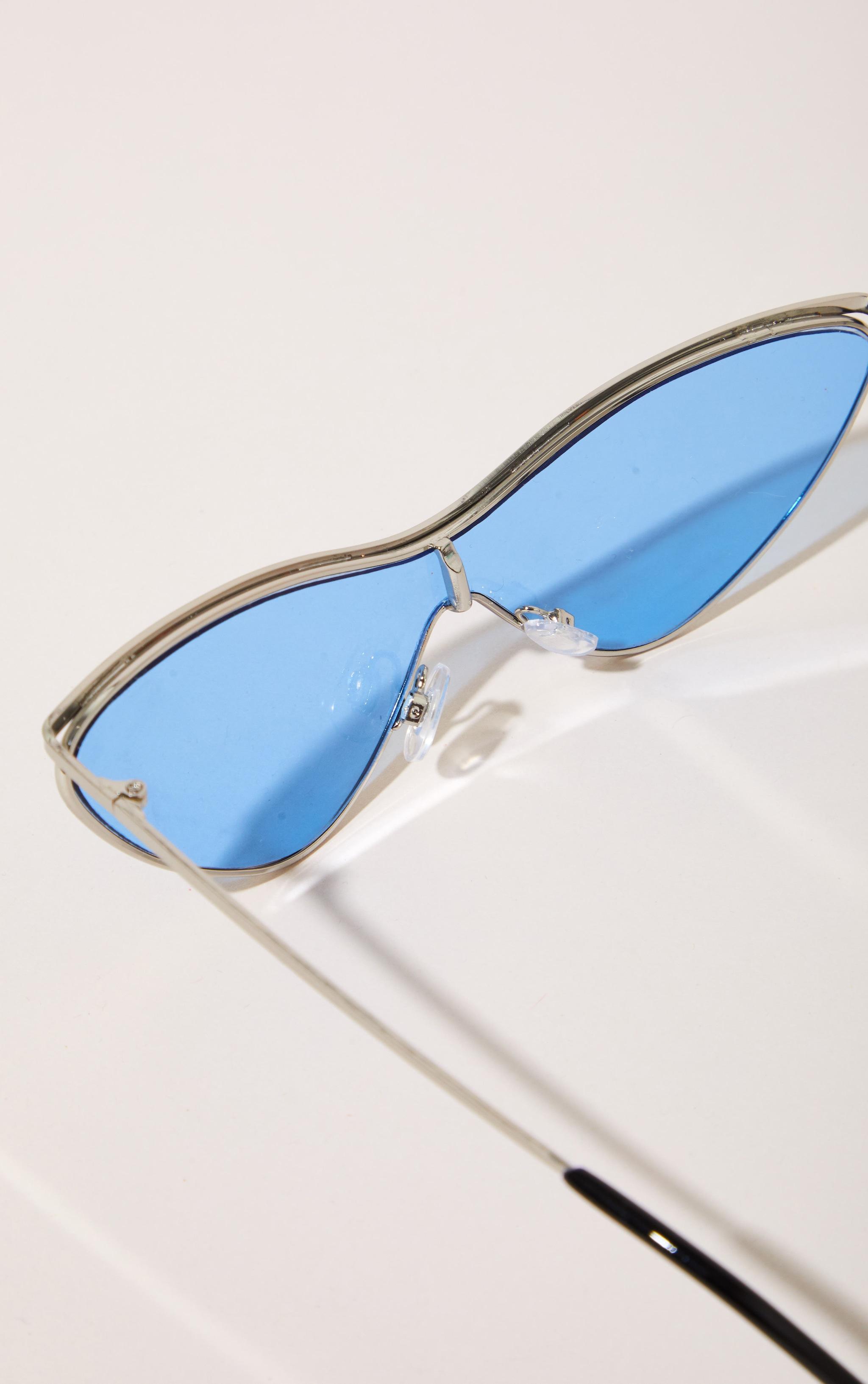 Light Blue Extreme Cat Eye Sports Sunglasses 4
