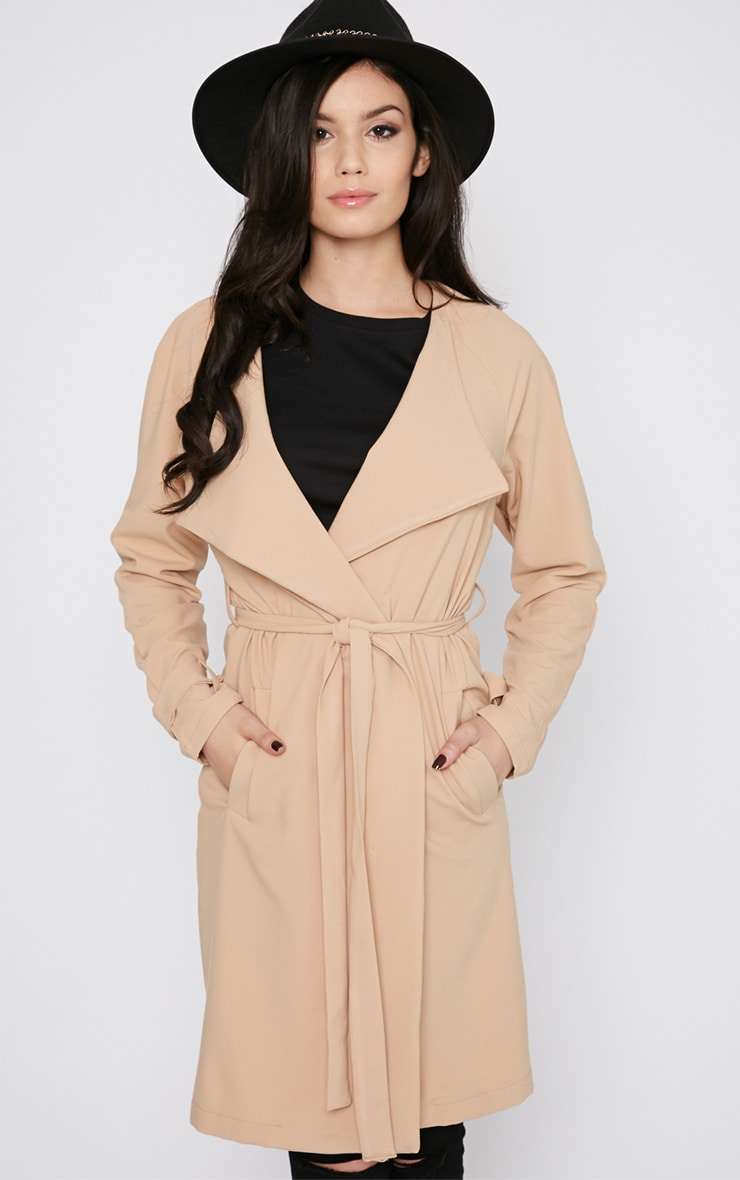Ashia Camel Trench Coat 1