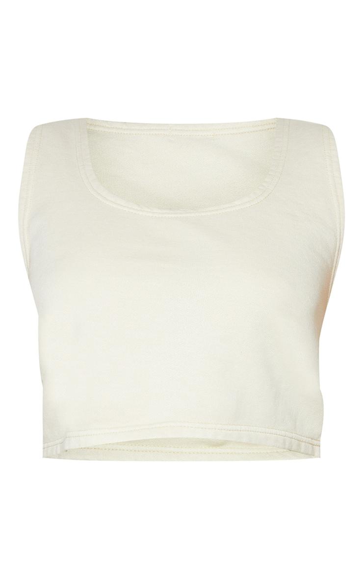Plus Stone Washed Cropped Sweat Vest 5