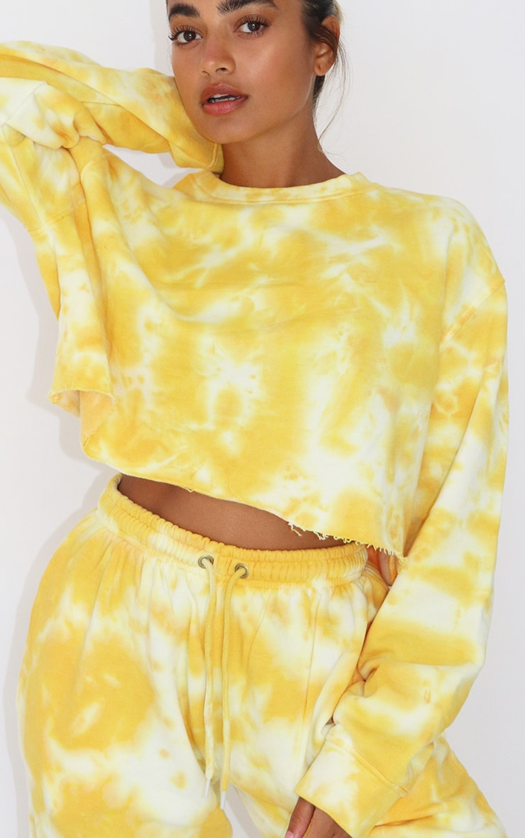 Petite Orange Tie Dye Cropped Sweater 4