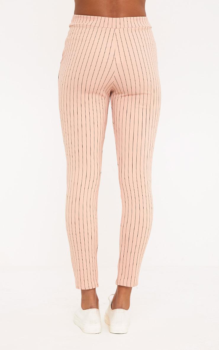 Sage Blush Stripe Trousers 2