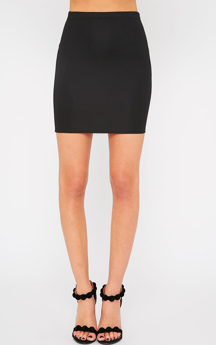 Emilia Black Crepe Mini Skirt 4