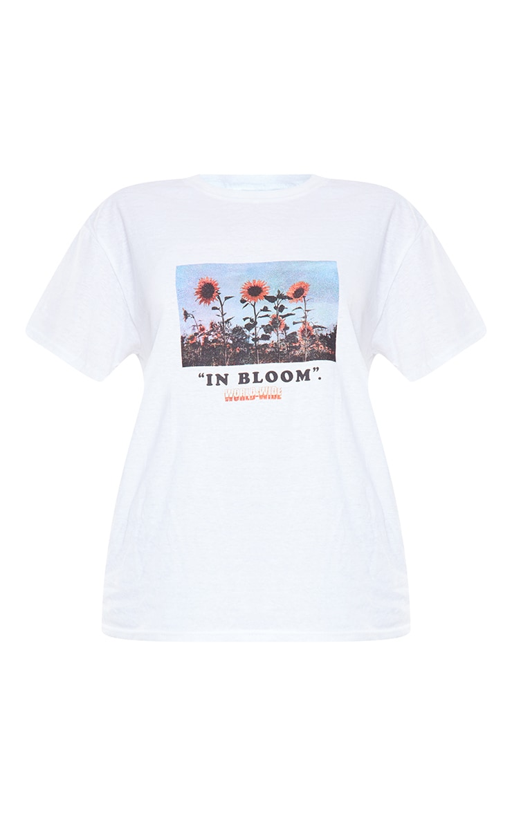 Cream In Bloom Printed T Shirt 5