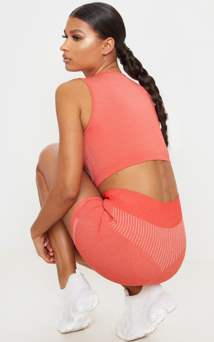 PRETTYLITTLETHING Coral Seamless Cropped Vest 2
