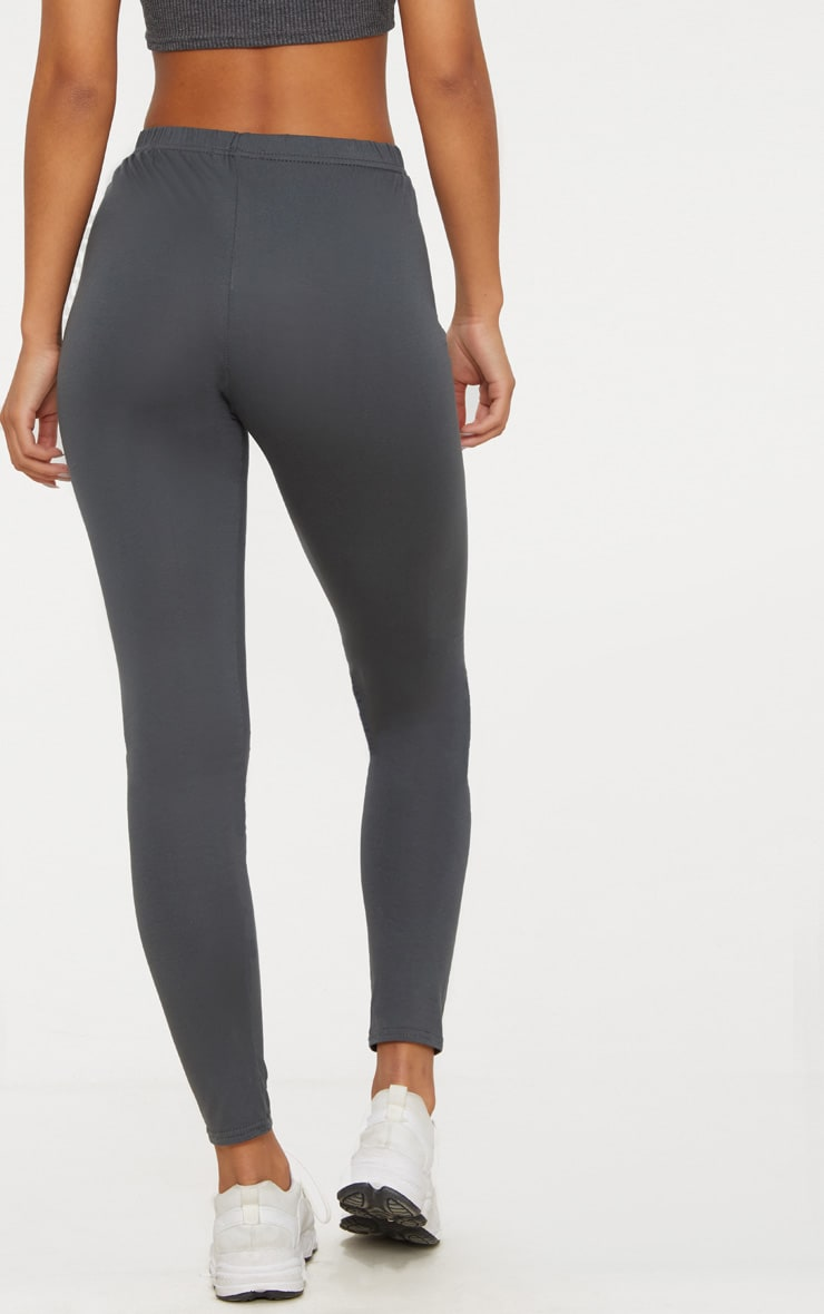 Charcoal Grey and Taupe Basic Jersey Legging 2 Pack 8