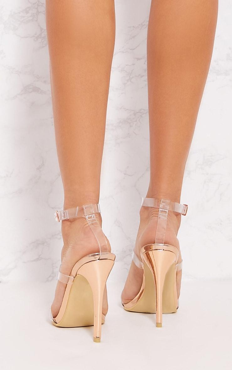 Gold Ankle Jewel Heeled Sandal 3