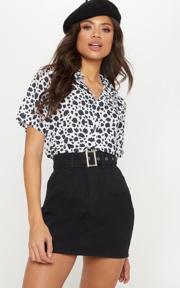 Black Dalmatian Print Shirt 4