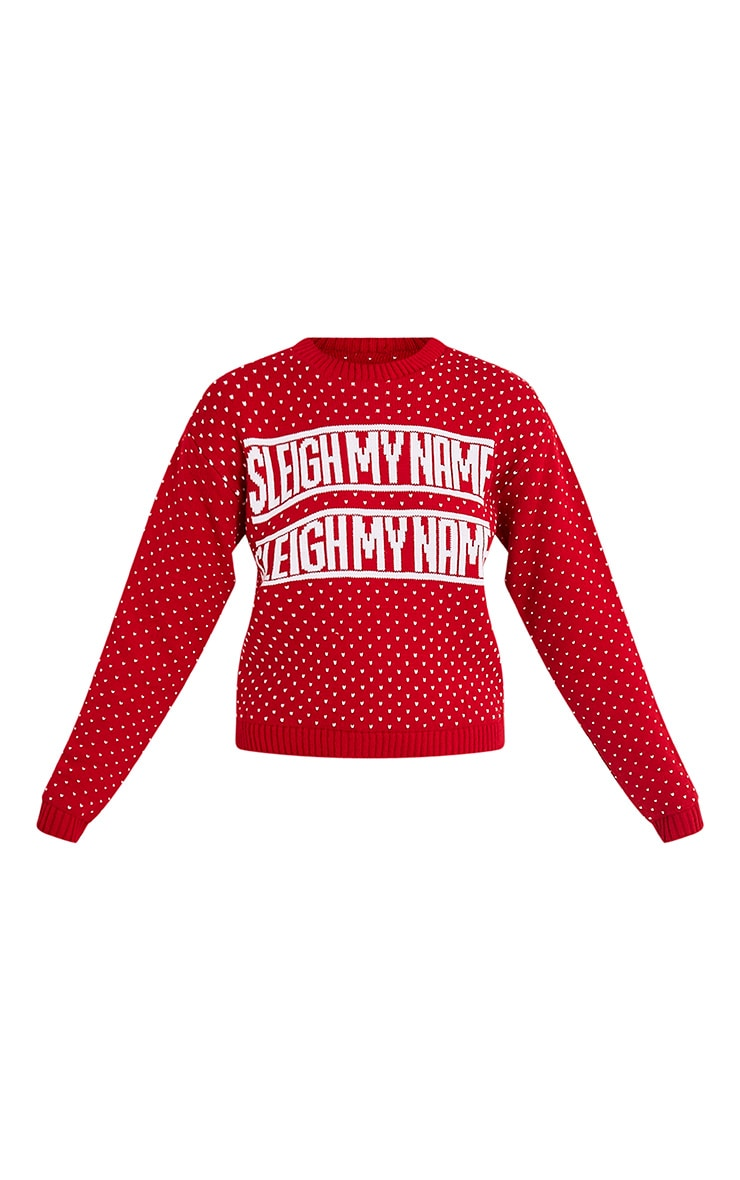 Sleigh My Name Red Christmas Jumper 3