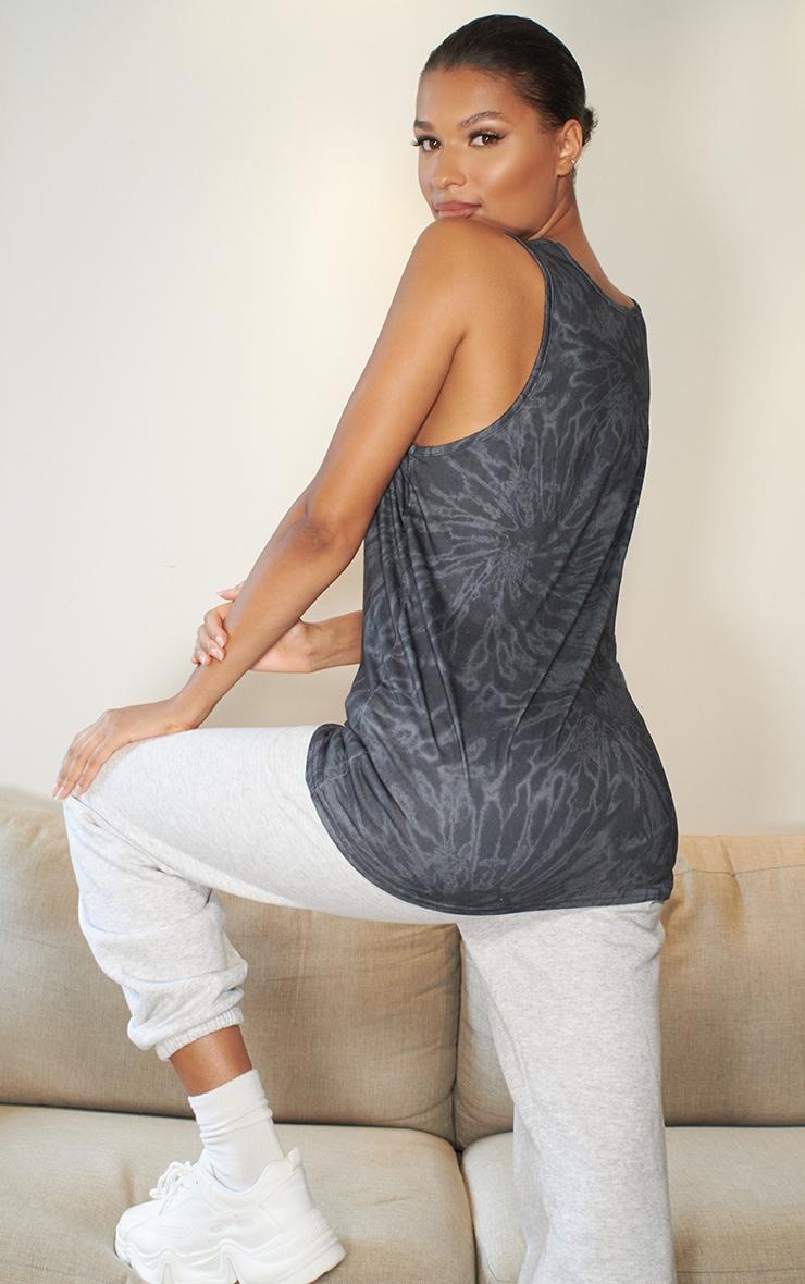 Black Tie Dye Oversized Vest 2