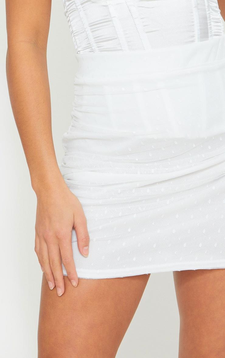 Petite White Oriental Lace Mini Skirt 5