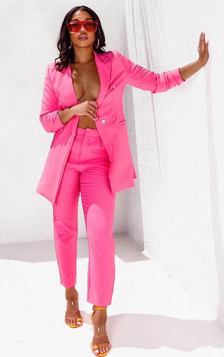 Bubblegum Pink Cropped Trouser image 1