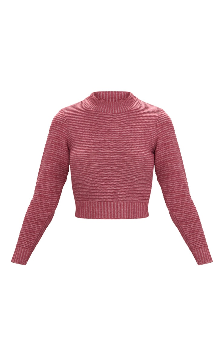 Rose Cropped Knitted Jumper 3