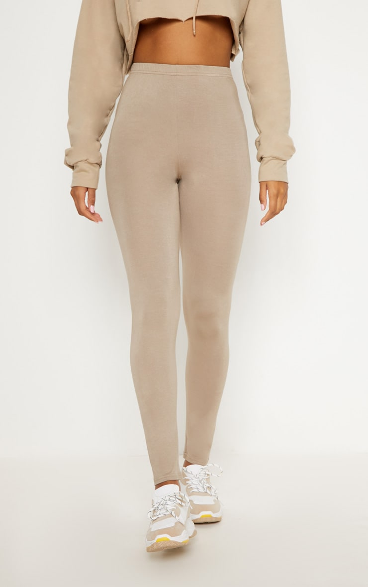 Burgundy and Taupe Basic Jersey Legging 2 Pack 3