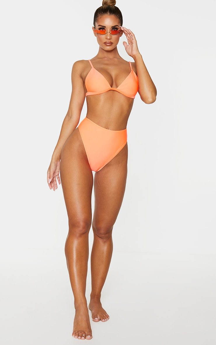 Coral Mix & Match High Waisted High Leg Bikini Bottom 4